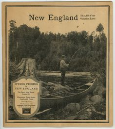 New England All Year Vacation Land 1925 Boston Maine Railroad timetable brochur