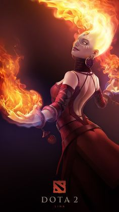 Lina dota 2 wallpaper Lina the Slayer is a ranged Intelligence hero, adept at destroying enemy heroes fast and delivering massive bursts of magical