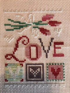 completed finidhed cross stitch Lizzie Kate LOVE   | eBay Everything Cross Stitch, Cross Stitch Love, Cross Stitch Pictures, Counted Cross Stitch Kits, Lizzie Kate, Cross Stitch Tutorial, Cross Stitch Collection, Christmas Gift Decorations, Types Of Embroidery
