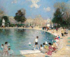 Herve, Jules, (1887-1981), The Tuileries Gardens, Oil