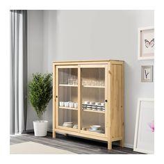 HEMNES Vetrina - marrone chiaro - IKEA