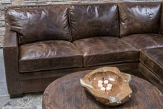 Gorgeous chocolate brown color distressed sectional with comfort and great style. Excellent craftsmanship and made in the U. Sectional Sofa With Recliner, W 6, Home Living Room, Home Furnishings, Track, Chocolate, Leather, Living Room, Runway
