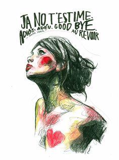 galeria - paula bonet #adorofarm Graphic Design Illustration, Illustration Girl, Graphic Art, Croquis, Paula Bonet, Canson, Art Girl, Wiedersehen, Art Drawings