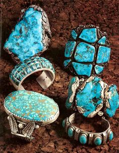 "turquoise jewelry | The photo below shows more ""man-sized"" turquoise bracelets that ..."