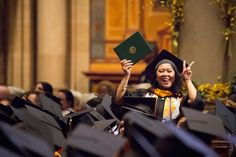 Photo Tip: Plan ahead with your graduate on when to wave or conduct a recognizable action.  #graduation