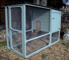 country blue chicken coop - lovely