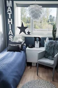 Grey and Blue Bedroom Ideas Inspirational 49 Inspiring Teen Bedroom Ideas You Will Love Boys Bedroom Decor, Farm House Living Room, Room Design, Boys Bedroom Colors, Bedroom Design, Bedroom Diy, Blue Bedroom Decor, Home Decor, Living Room Designs