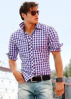 Mens fashion athletic build fit