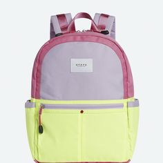 9134e7c4d727 Kids Backpack in Pink Yellow - Kane by STATE Bags Pink Lemon