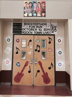 Northlake Park Community School in Orlando, FL, has the ticket to creativity with this awesome door decoration!