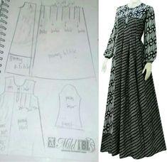 Discover thousands of images about Best 12 – Page 606437906052567402 – SkillOfKing. Diy Fashion Hijab, Batik Fashion, Fashion Sewing, Abaya Fashion, Sewing Clothes, Diy Clothes, Dress Batik Kombinasi, Mode Batik, Abaya Pattern