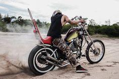 by Arthit Sangtaku Custom Built Yamaha Bobber & Chopper Bikes Old School Motorcycles, Vintage Motorcycles, Yamaha Virago, Bobber Bikes, Bobber Chopper, Inspiration, Biblical Inspiration, Inspirational, Inhalation