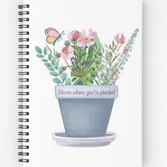 A beautiful notebook always inspires me to write or draw. What I like about these products is you can make up your own set of favorite things to put together just the way you like it, either for yourself or as a gift... Redbubble shop link in my bio! Visit to see all the new goodies!💃🏼🕺🏼 . . . #potplants #art #flowers #flower #spring #seasons #summer #plants #botanicalart  #stickers #plannerstickers #agenda #cute #trendy #quoteart #blogger