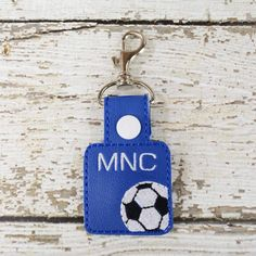 Show off your love for the game with this Soccer Keychain! It can be clipped to your keyring or to a zipper! Accessorize your bag with our keychains to ensure that you never grab someone elses bag on accident! Personalize it with your initials