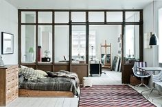 Beautiful and Practical: Windows Indoors - loft space divider