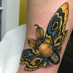 Tattoo done by: Aaron Springs #polilla #mariposa