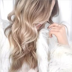 beige blonde balayage More
