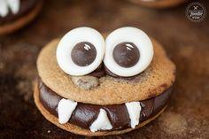 20 Halloween Cookies Guaranteed to Make You Grin Like a Jack-o'-Lantern Chocolate Monster Cookies Get the recipe: chocolate monster cookies