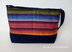 Purse Hand Sewn Handmade Tote Bag Aztec by JennyLinCreations, $35.00