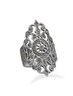 NEW Marcasite STERLING SILVER RING Sizes 6-9 Showstopper glamorous ornate gift in Jewelry & Watches, Fashion Jewelry, Rings | eBay