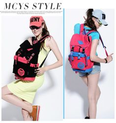 Fashionable Canvas Women Backpack Student School Bag Large Volumn also for Travel Sport All Occasions Dropshipping Support