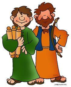 David And Jonathan 1 Samuel He Bids Them Come