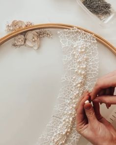 We don't produce dresses we create dreams ! Couture Beading, Couture Embroidery, Embroidery Fashion, Beaded Embroidery, Couture Embellishment, Hand Work Embroidery, Embroidery On Clothes, Hand Embroidery Designs, Fashion Sewing