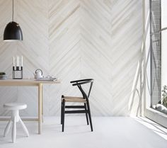 The Design Files> Glosswood is a Perth-based business run by husband and wife team Peter and Pam Thomson. From their factory on the outskirts of Perth, this husband and wife team create high quality pre-finished timber lining boards for all kinds of applications, made locally from sustainably harvested plantation timber. Their latest range is a collection of contemporary finishes including herringbone designs, shibori-inspired colour washes, and mid-century inspired spotted gum panelling.