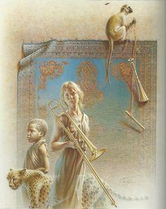 Poen de Wijs (1948 - 2014), Mombassa Melodie II (1993), olieverf op doek 120 x 150