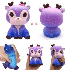 $3.05 - Galaxy Deer Jumbo Slow Rising Squishies Scented Squishy Squeeze Kids Adults Toys #ebay #Electronics Toys For Girls, Kids Toys, Cute Squishies, Cheap Squishies, Figet Toys, Slime And Squishy, Galaxy, Halloween Costumes For Kids, Gifts For Kids