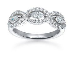 Suwa Marquise and Round Diamond Ring | #diamondaday @Fink's Jewelers