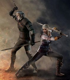 Together Again - Geralt and Ciri (Witcher 3) by Shinobi2u on…
