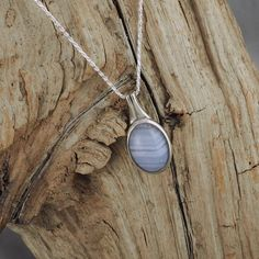 Sterling Silver Pendant/Necklace  Natural Blue by CJsRocksGems