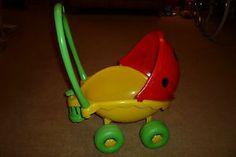 This was at my Grams !!!! Vintage lil lady Ladybird Ladybug Playskool Dolls Pram Buggy Pushchair Stroller