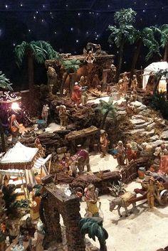IMG_1507 | KimInMD | Flickr Christmas Cave, Christmas Crib Ideas, Christmas Garden, Christmas Holidays, Christmas Crafts, Christmas Decorations, Homemade Christmas, Christmas Village Display, Christmas Nativity Scene