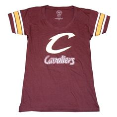 Cavaliers Ladies Script C Applique T-Shirt NEW <$36.00>