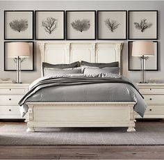 RH's St. James Panel Bed:Evoking the architectural classicism of turn-of-the-century design, St. James is grand in both scale and beauty.