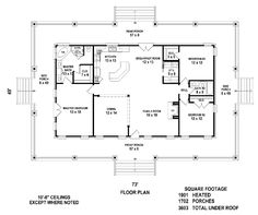 floor plan simple square house - Simple House Plan