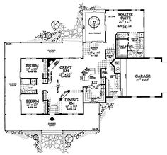 Floor Plans AFLFPW21576 - 1 Story Farmhouse Home with 3 Bedrooms, 2 Bathrooms and 2,090 total Square Feet. Love the porch!