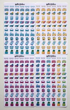 Colorful Finance, Bills Due Stickers, Erin Condren, Plum Planner, Happy Planner, Postal Stickers, Bill Reminder, Planner Stickers by hellostickers on Etsy