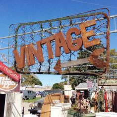 RUSTY VINTAGE SIGN ! ..... Love this Idea ! ..... If you like Antiques & Vintage items / hunting .... Download the FLEATIQUE APP on the Apple App Store for IPhone 5 - 5s - 5c - 6 - ipad ..... Sign signs retro vintage antique antiques rusty gold American pickers restoration fleamarket flea markets decor style hgtv flea market junking junkin