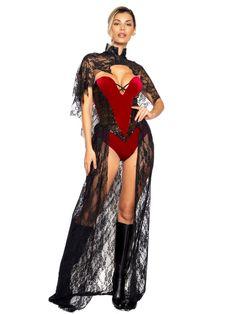 Ladies 2pc Vampy Vixen Sassy Costume