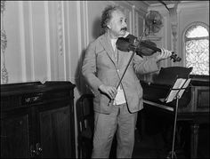 Einstein eventually became an accomplished amateur violinist, taking particular pleasure  in performing Mozart and discussing the parallels between music and  mathematics. #alberteinstein