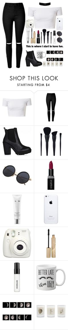 """This is where i start to have fun."" by i-am-cool-girl ❤ liked on Polyvore featuring Smashbox, Natura Bissé, Fujifilm, Stila, Hourglass Cosmetics, Lara and Elizabeth Scarlett"