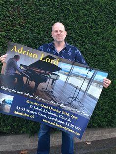 As you can see I am playing in Llandudno this Saturday 22nd at 2pm. Would be great to see you there!  #piano #Llandudno #concert #music #northwales #wales #conwy #thingstodo #journey #Ll30 www.adrianlordpiano.com