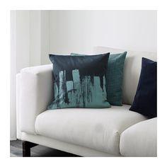 SLÖJGRAN Cushion cover, blue blue 20x20