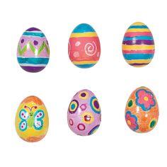 white DIY Easter eggs. +OrientalTrading.com Yoshi eggs?