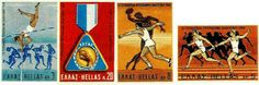 1969 (5 Μαΐου) Αναμνηστική έκδοση για το 9ο Ευρωπαϊκό Πρωτάθλημα Αθλητισμού. Τέσσερις αξίες με ελεύθερο αθλητικό θέμα σχεδιασμένες από τους Γ. Βελισσαρίδη και Π. Γράββαλο.  Το πρωτάθλημα έγινε από 16 έως 21 Σεπτεμβρίου 1969 στο Στάδιο Καραϊσκάκη. Greece, Stamps, Baseball Cards, Blog, Vintage, Greece Country, Seals, Blogging, Vintage Comics