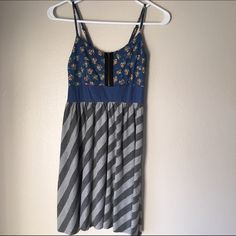 Floral and stripes summer dress In good condition. Worn maybe 3 times. Great for those summer days! Dresses