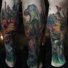 Dinosaur sleeve. Paul Acker